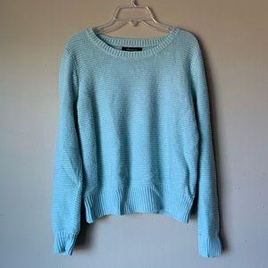 Mint Blue Knit Crewneck Sweater Medium